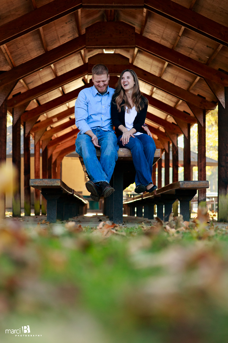 Corvallis, Oregon Engagement Photography - Avery Park - Fall Colors