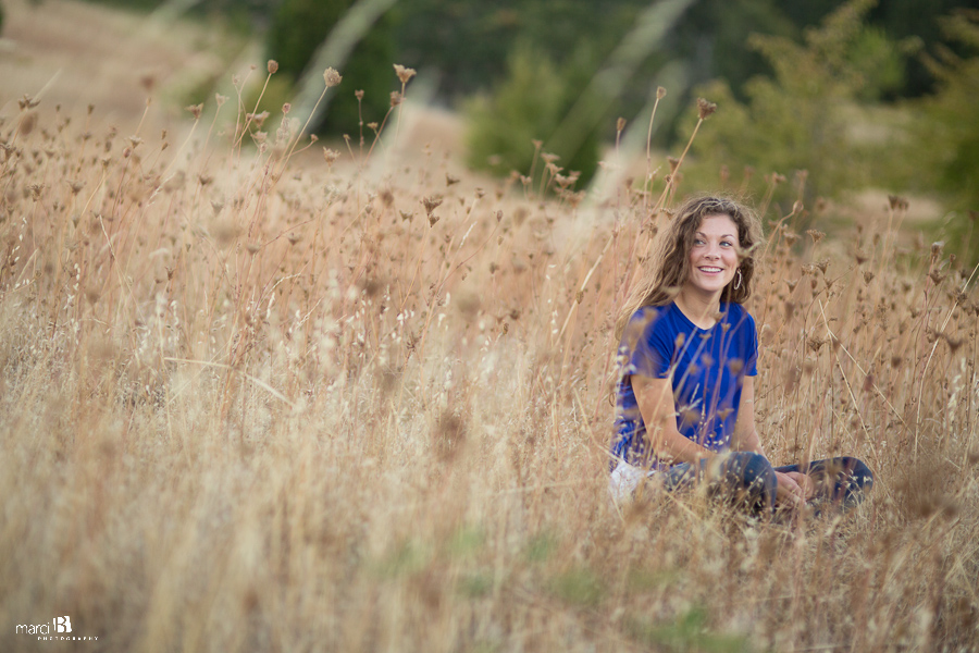 Corvallis Senior Portrait Photographer - Bald Hill