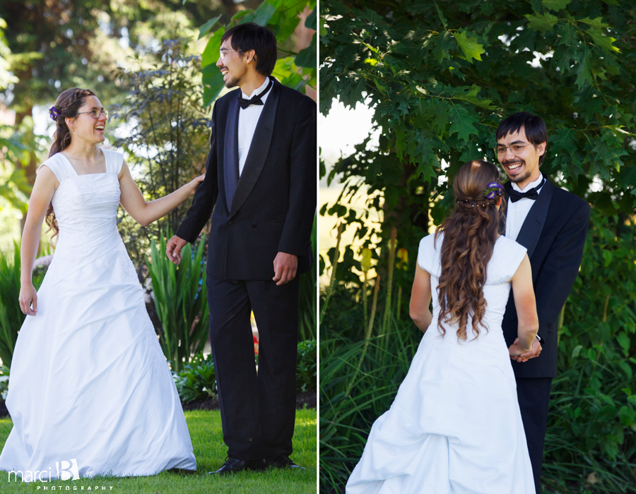 Corvallis wedding photography - outdoors - first look