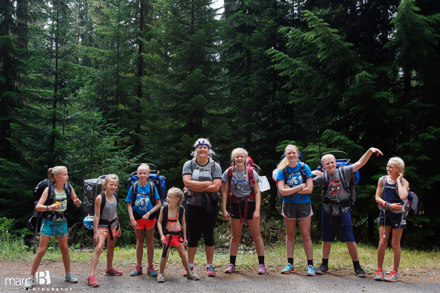 backpacking with kids - horses -  Three Fingered Jack - Mt. Jefferson Wilderness
