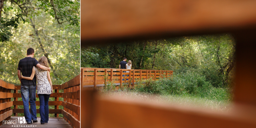 engagement photos - Finley Wildlife Refuge - boardwalk