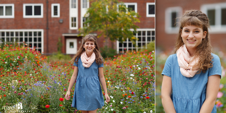 Photography at Oregon State University - Senior portraits - wildflowers