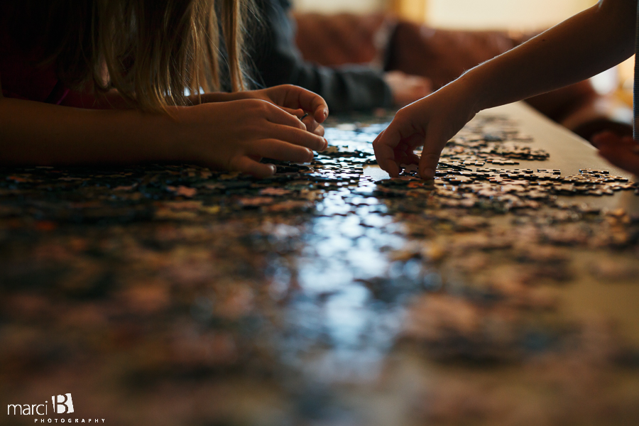 kids and a puzzle