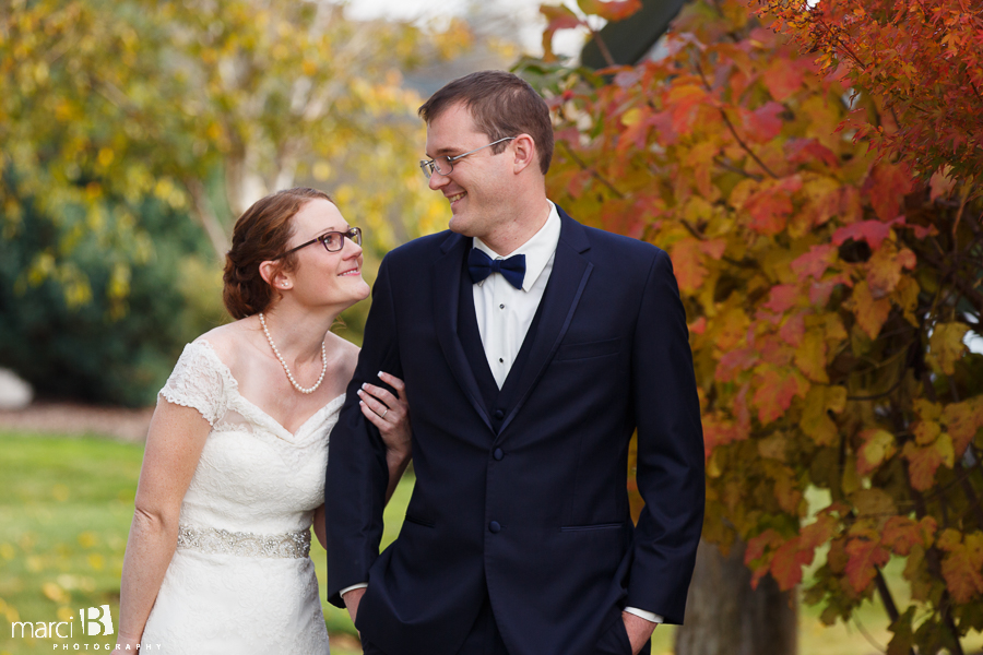 Corvallis wedding photography - first look photos - first reveal