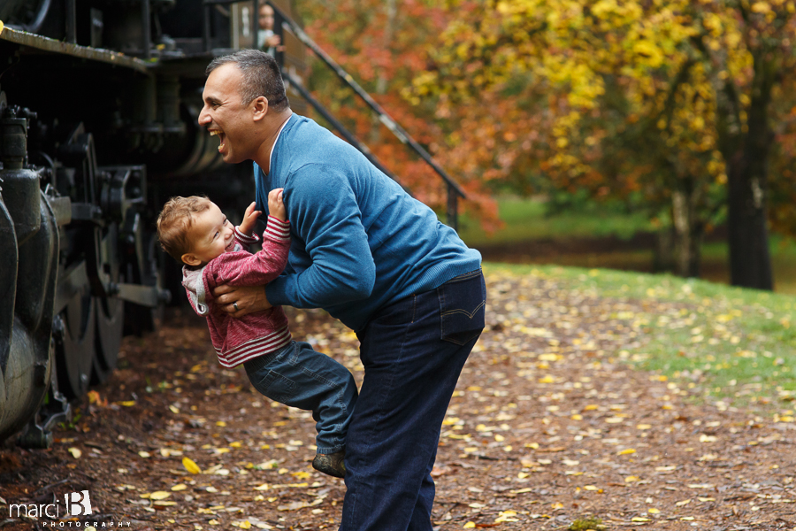 father and son photo - Avery Park - Corvallis - family photographer