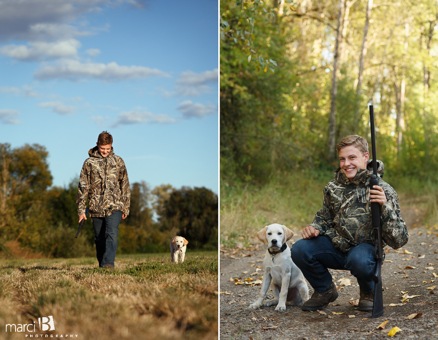 senior photography - senior and his dog - Corvallis photographer