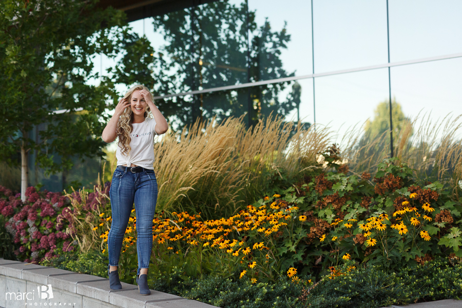 Corvallis Senior photos - OSU campus - senior portrait photographer